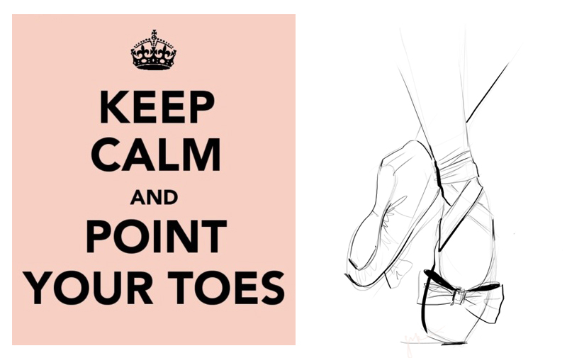 On Pointe Media : Tablet in Photoshop By JSK Keep Calm Source : Unknown