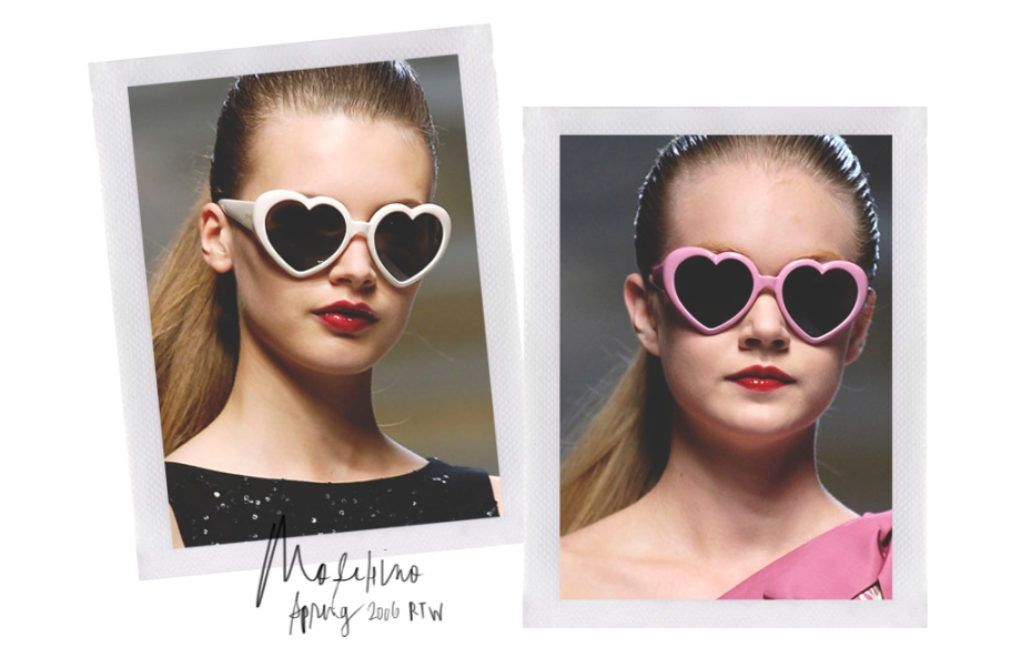 Inspiration | Moschino Spring Ready-To-Wear 20016  Heart Sunglasses
