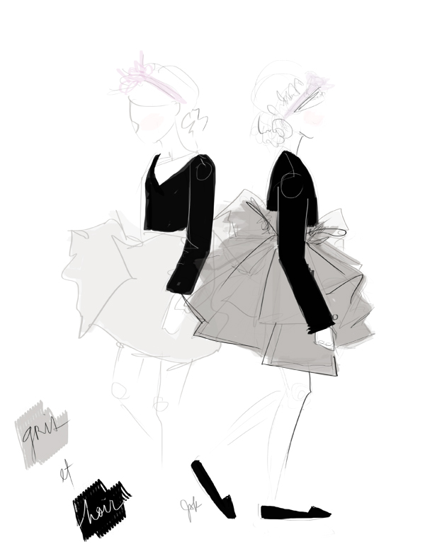 22 January 2014 Gris Et Noir Fashion Illustration by JSK